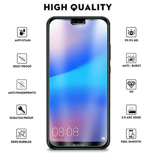 KuGi Huawei P20 Lite/Nova 3e Screen Protector, 9H Hardness HD clear