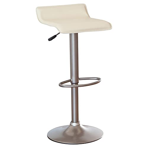 Winsome Adjustable Single Backless Air Lift Swivel Bar Stool – Cream