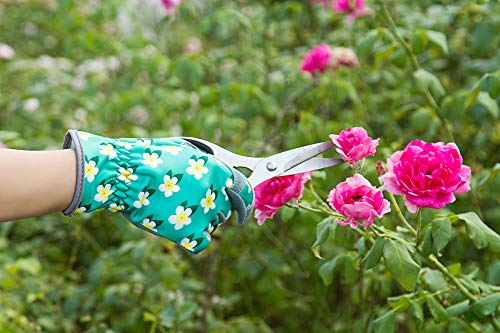 SKYDEER Womens Gardening Gloves with Deerskin Leather Suede for Yard Work, Rose Pruning and Daily Work by SKYDEER (Image #4)