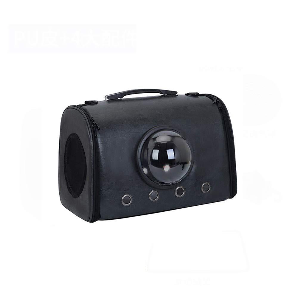 Black 45×26×31cmCOOINSCBXL Cat bag pet out portable space bag portable breathable shoulder bag, 45 × 26 × 31cm, pink