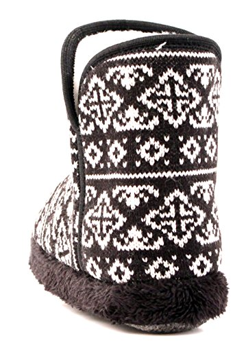 Luckers Womens Cathedral Graphic Slipper Boots Black/White NbCbsrWO