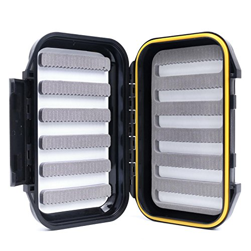 Maxcatch OR Fly Box Waterproof Portable Design for Large Flies(Easy Grip, Slit Foam) (Slit - Fly Waterproof Large Box