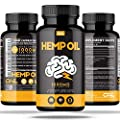 Hemp Oil 1000MG | #1 Premium Organic Hemp Oil Capsules Reduce Pain, Anxiety, and Stress (60 Vegetarian Liquid Capsules) - All Natural Omega 3, 6, 9 - Brain Boost Supplement, Memory, Focus, Clarity. from Osyris Nutrition Lab
