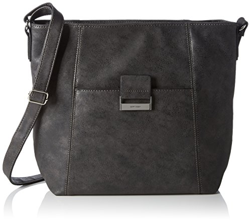 GERRY WEBER be Different V, L, Sacs portés épaule Femme Grau (Dark Grey 802)