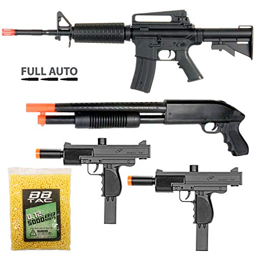 ckage - Police Entry Team Collection of 4 Airsoft Guns - Full Auto AEG Airsoft Electric Rifle, Shotgun, SMG and Pistol, 5000 BB Pellets, Great for Starter Pack Game Play ()