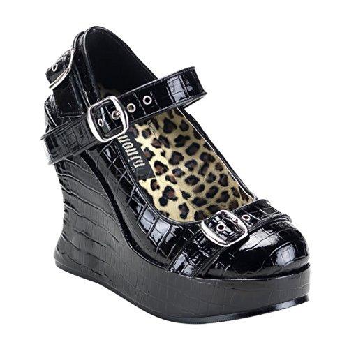 Demonia Bravo-10 - gotica punk plataforma zapatos de tacón mujer - tamaño 36-42, US-Damen:EU-37 / US-7 / UK-4