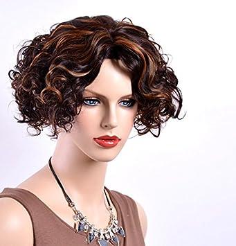 Curl Haned Flauschige Synthetische Kurze Blonde Haare Perücken Für