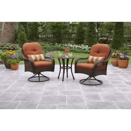 Better Homes and Gardens Azalea Ridge 3-Piece Outdoor Bistro Set, Seats 2 - Burnt Orange -