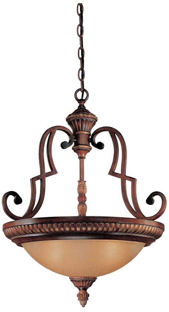 Minka Lavery 937-126, Belcaro, 3 Light Pendant, Belcaro Walnut