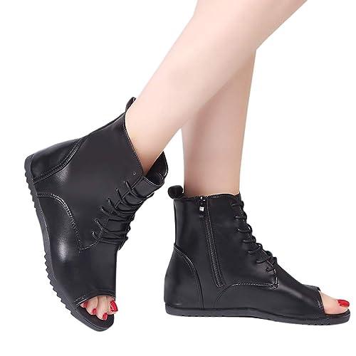 Zapatos de Fiesta Plano para Mujer Invierno Primavera 2019 PAOLIAN Botines Bajo Piel Sintético Sandalias de