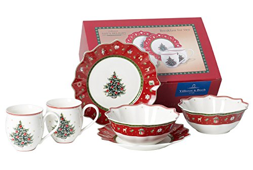Villeroy & Boch 6-Piece Toy\'s Delight Breakfast Set for 2, Red ...
