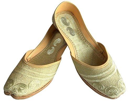 indien Sandales mojari Doré juttis jooti Style Khussa Chaussures Jaipuri fait Chaussures Étape main N 74wqzqgR