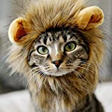 royalwise Cats Lion Mane Christmas Costumes Cat Hat Pet Lion Head Small Dogs