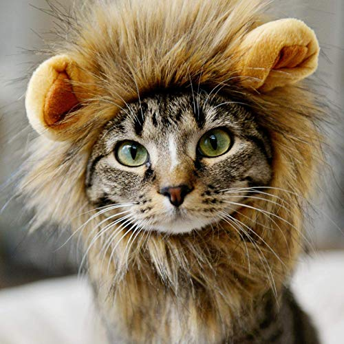 royalwise Cats Lion Mane Christmas Costumes Cat Hat Pet Lion Head Small Dogs for $<!--$7.99-->