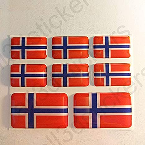 Aufkleber Set Norwegen Fahne Flagge