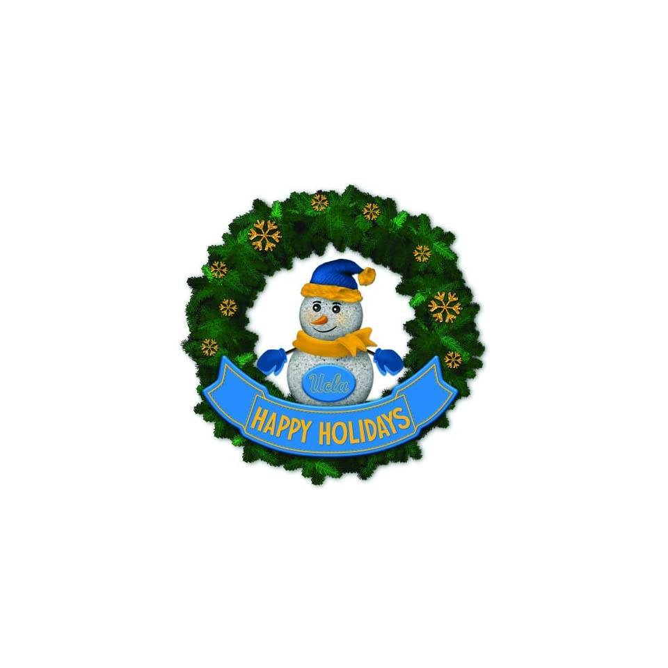 15 NCAA UCLA Bruins Lighted Snowman Artificial Christmas Wreath
