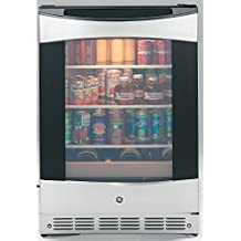 "PCR06BATSS 24"""" ADA Compliant Beverage Center with 5.5 cu. ft. Capacity 3 Spillproof Glass Shelves 2 Wine Racks Automatic Defrost and Reversible Door in Stainless Steel"