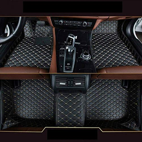 MyGone for BMW 7 Series G11/G12 F01/F02 740i 740Li 750i 760i 2014-2017 Custom Car Floor Mats All Weather Protection Front Contour Liners and 2 Row Liner Set Waterproof Non-Slip Black with Beige