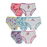 Handcraft Little Girls'  Disney Princess 7 Pack Underwear, Multi, 6