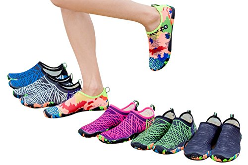 Snabbtork Barfota Vattensporter Aqua Socka Skor Lätta Med Dräneringshål För Stranden, Bada, Yoga, Lake, Körning, Vattenaerobics Plus Size Lila
