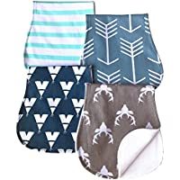 Baby Burp Cloths Baby Burp Set Curved Absorbent and Soft Valuable 4 Pack