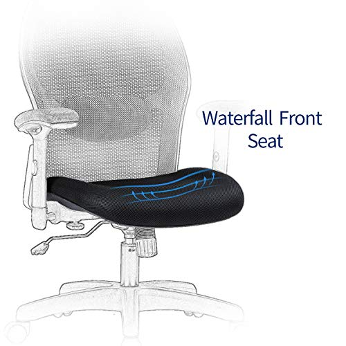 LIANFENG Ergonomic Office Chair, High Back Executive Swivel Computer Desk Chair with Adjustable Armrests and Headrest, Back Lumbar Support, Black by LIANFENG (Image #7)