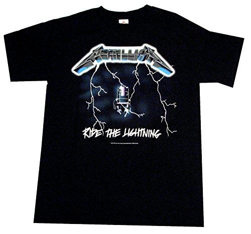 Bravado  Metallica Ride The Lightning T-Shirt (Metallica Jump In The Fire T Shirt)