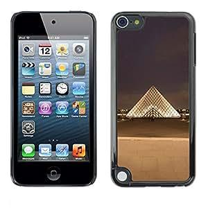 Estuche Cubierta Shell Smartphone estuche protector duro para el teléfono móvil Caso Apple iPod Touch 5 / CECELL Phone case / / Paris Museum Louvre City /