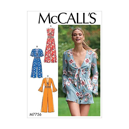 - McCall's Patterns M7756A50 Misses' Jumpsuits and Romper