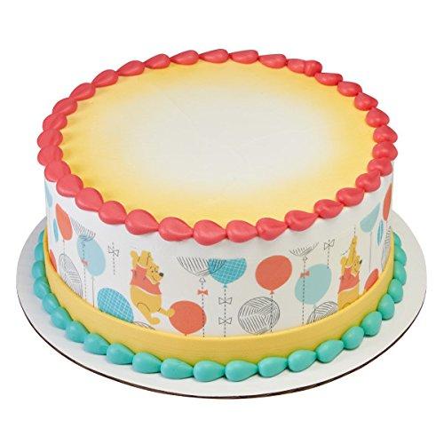 Winnie The Pooh Baby 1st Birthday Licensed Edible Cake Strips #20982