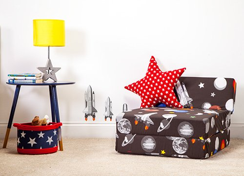 Ready Steady Bed/® Galaxy Design Childrens Fold Out Single Z Bed Chair