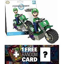 Luigi Bike: K'NEX Mario Kart Building Set + 1 FREE Official Mario Trading Card Bundle