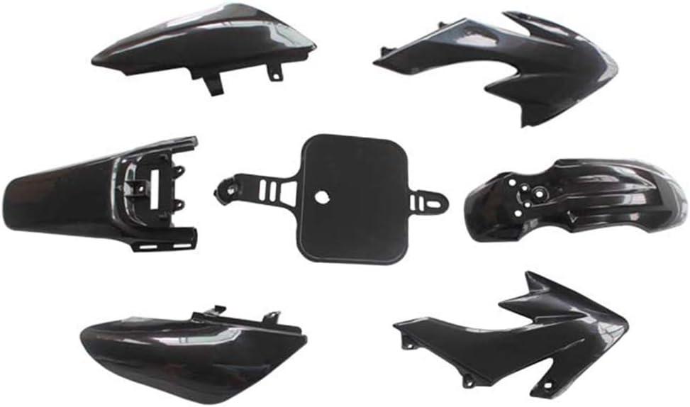 SAXTEL - Carcasa de plástico para carenado de motocicleta todoterreno, ligera, accesorios de repuesto para Honda CRF50, negro, Tamaño libre