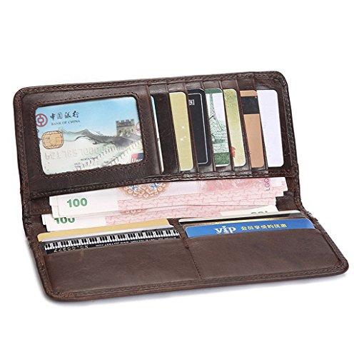 Dairyshop Borsa donna Portafoglio, Tasca di cuoio fredda raccoglitore della borsa raccoglitore supporto della carta di identificazione dei soldi freddi degli uomini (Blu)