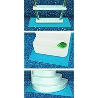 HydroTools de Swimline Protective Pool Ladder Mat y Pool Step Pad
