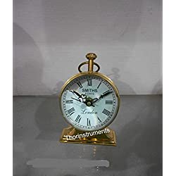 THORINSTRUMENTS (with device) Vintage Nautical Roman Counter Table Top Full Brass Clock A Home Decor Item