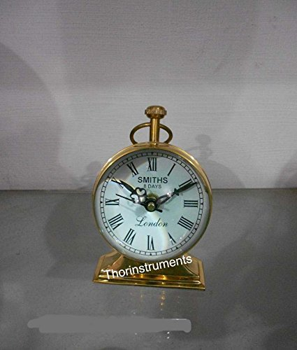 - THORINSTRUMENTS (with device) Vintage Nautical Roman Counter Table Top Full Brass Clock A Home Decor Item