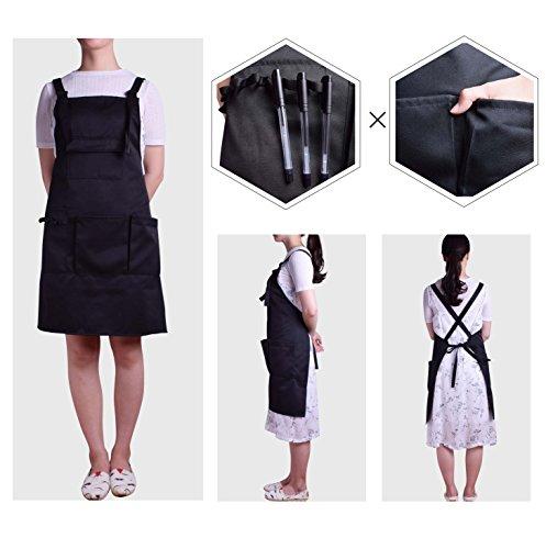 Nanxson Fashion Women Multi Function Working Work Apron with Tool Pockets CF3010 Black by Nanxson (Image #1)
