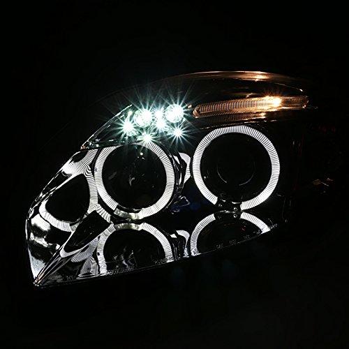 Spec-D Tuning 2LHP-ELP06-TM Chrome Projector Headlight Halo Led