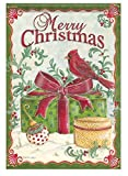 Cheap Red Cardinal & Gifts 28″ X 40″ Merry Christmas Holly Berries House Porch Flag