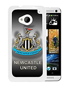 Fashionable Custom Designed Skin Case For HTC ONE M7 With New Castle United White Phone Case 10