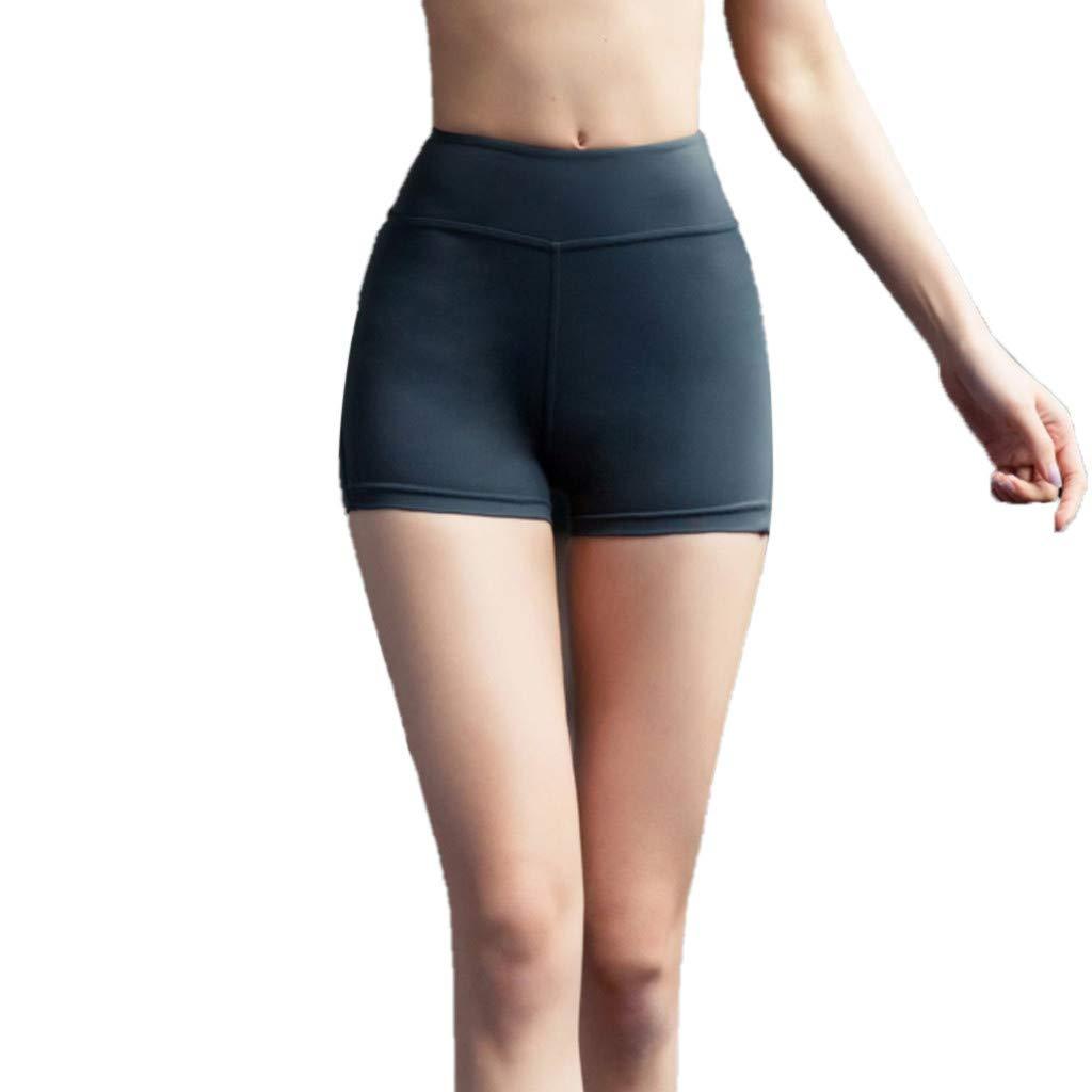 Alalaso Women's Yoga Sport Shorts, Ladies Summer Running Pants Cropped Leggings Short Pant Stretch Trousers Green