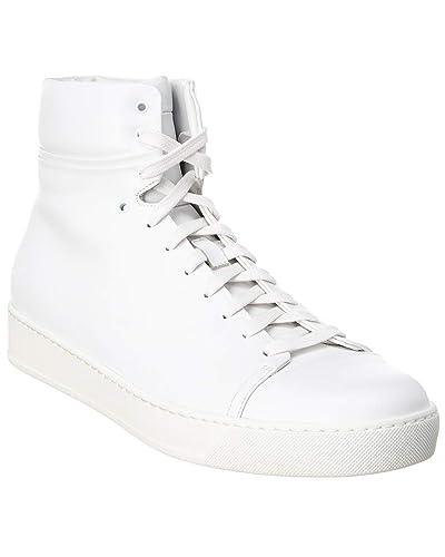 watch e0180 00cc9 Amazon.com | John Elliot Leather High Top Sneaker, 43 Pure ...