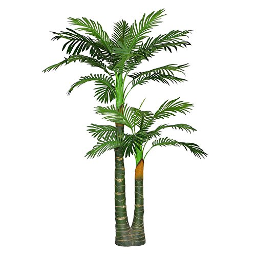 Artificial Palm Tree with Large Silk Green Leaves Fake House Office Plant 4.65-Feet, With No Pot(629#) (Fake Tree Palm Small)