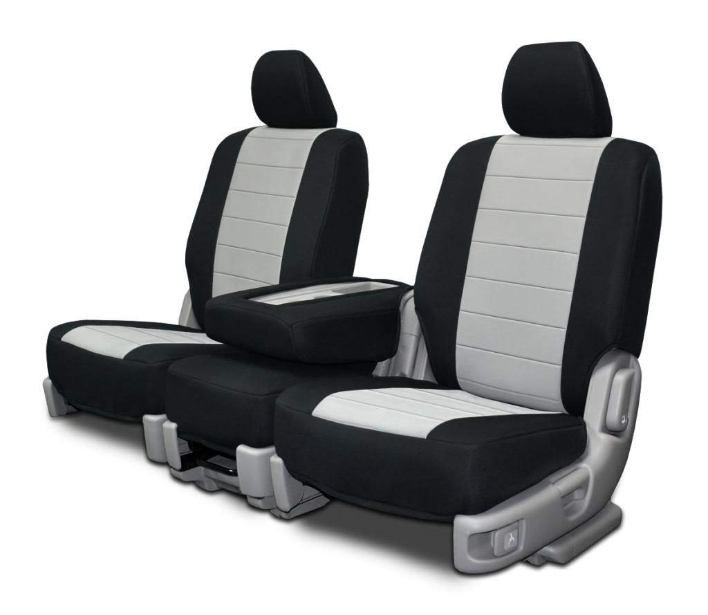Custom Fit Seat Covers for Ford F-150 40-20-40 Seats Charcoal Neoprene Fabric