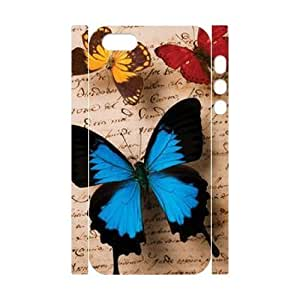 Cool Painting Butterfly Customized 3D Cover Case for Iphone 5,5S,custom phone case case524084