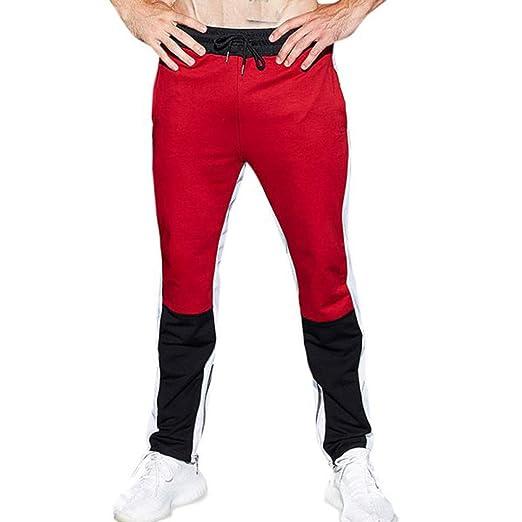 Alangbudu Mens Gym Jogger Pants Slim Fit Workout Running ...