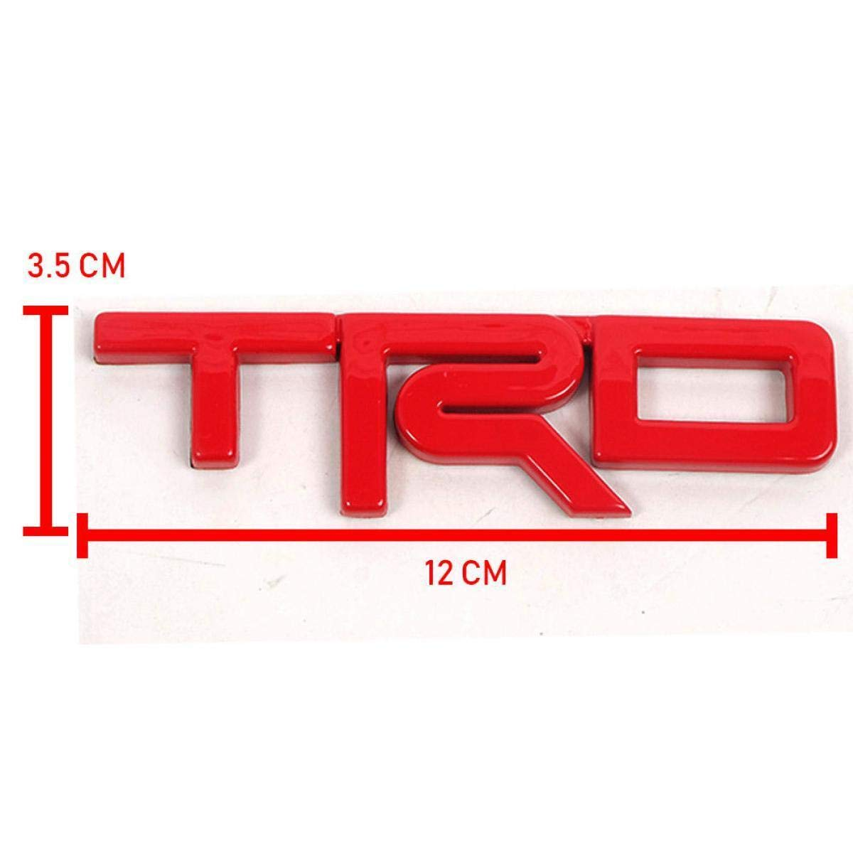 Fit Toyota Hilux Tacoma carmy TRD Emblem Red ABS Sticker Vehicle Logo Badge 1 PC