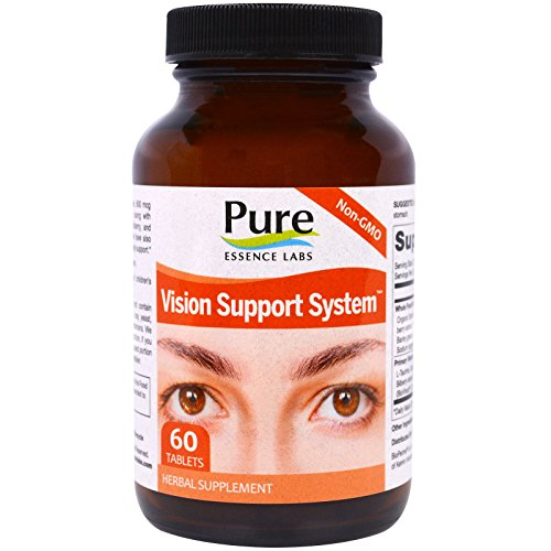Pure Essence Labs Vision Cellular Support System - With Lutein, Zeaxanthin, Bilberry & More - 60 (Vision Cellular Support System)
