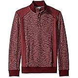 Calvin Klein Jeans Men's Cross Dye French Terry Crew Neck Sweatshirt, Deep Oxblood, X-LARGE